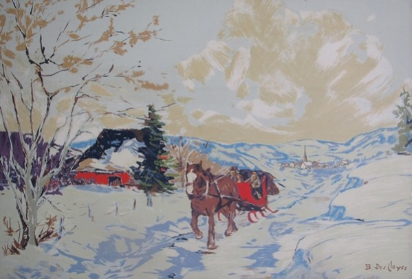 The Red Sleigh | Berthe Des Clayes