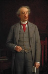 Photo of painting by John Colin Forbes of Canadian prime minister Sir. John A. MacDonald