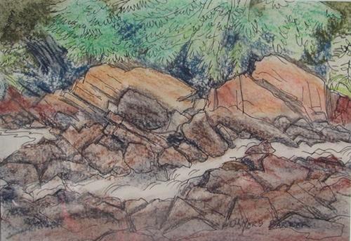 Rocky Shoreline | E. Conyers Barker