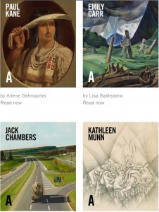 Photo of E-books published by the Art Canada Institute