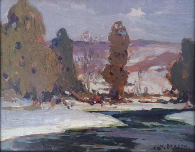 Winter Landscape   J.W. Beatty
