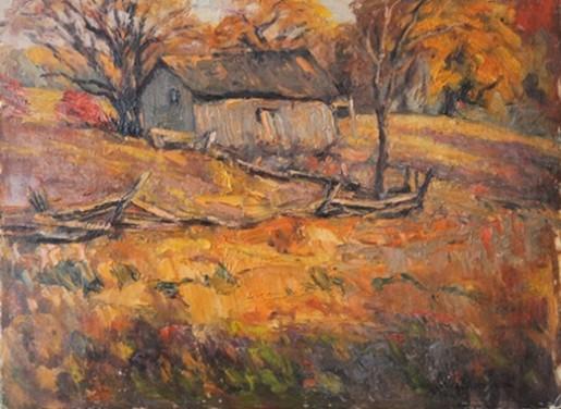 Old Barn   W.J. Hopkinson