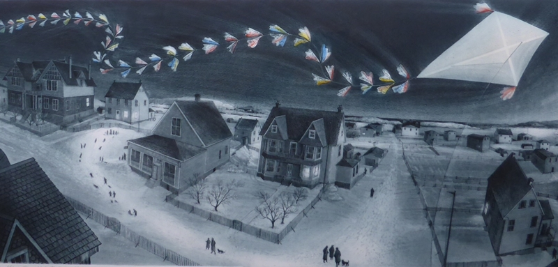 Wesleyville: Cyril's Kite | David Blackwood