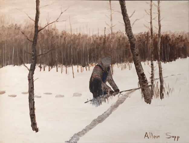 Snaring a Rabbit | Allen Sapp