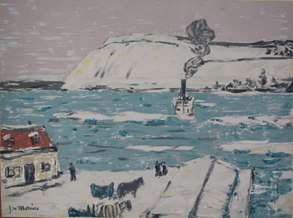 The Ferry, Quebec | J.W. Morrice