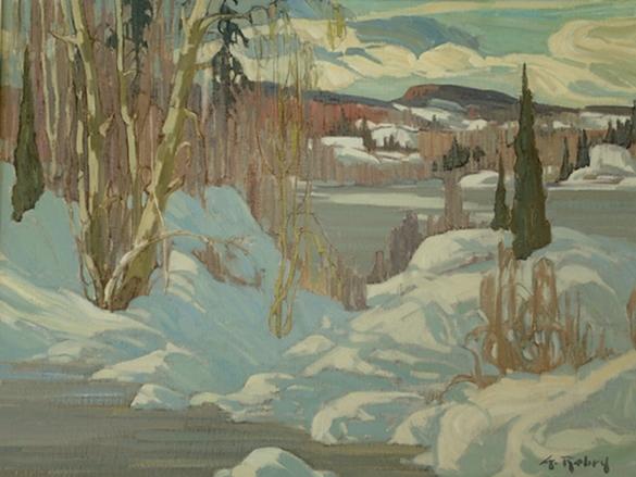 Ridges in the Snow | Gaston Rebry