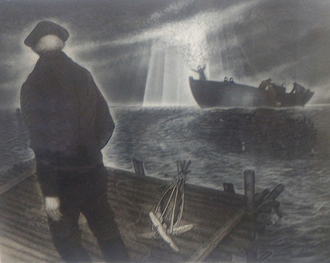 Molly Glover Leaving Bragg's Island | David Blackwood