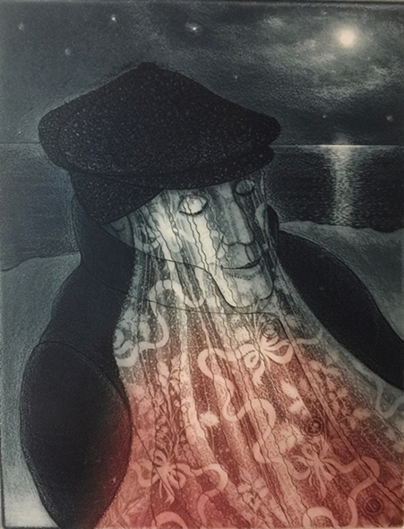 Mummer in Lantern Light | David Blackwood