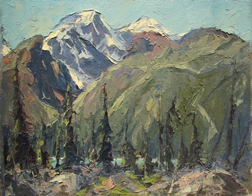 Sunwapta River, Alberta   W.J. Hopkinson