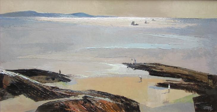 Figures on a Beach | Adrian Dingle